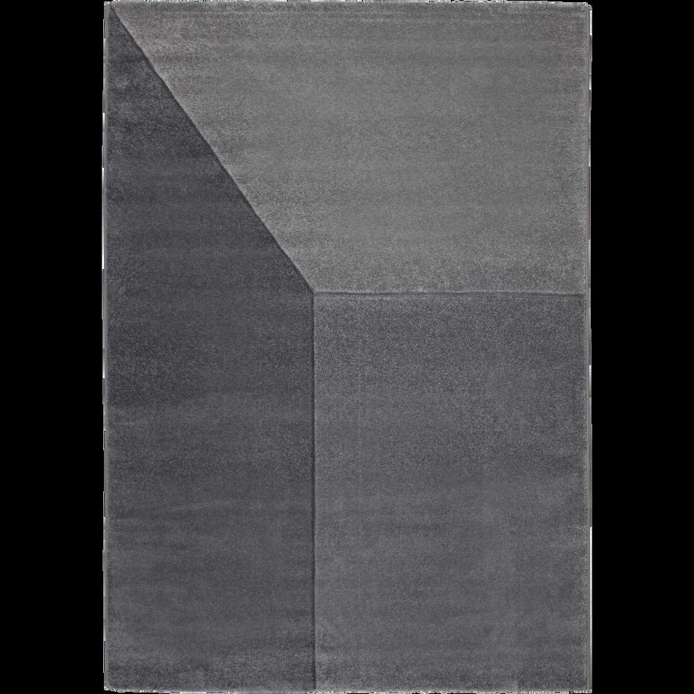 Tapis creusé à la main style contemporain gris 160x230 cm-MARION