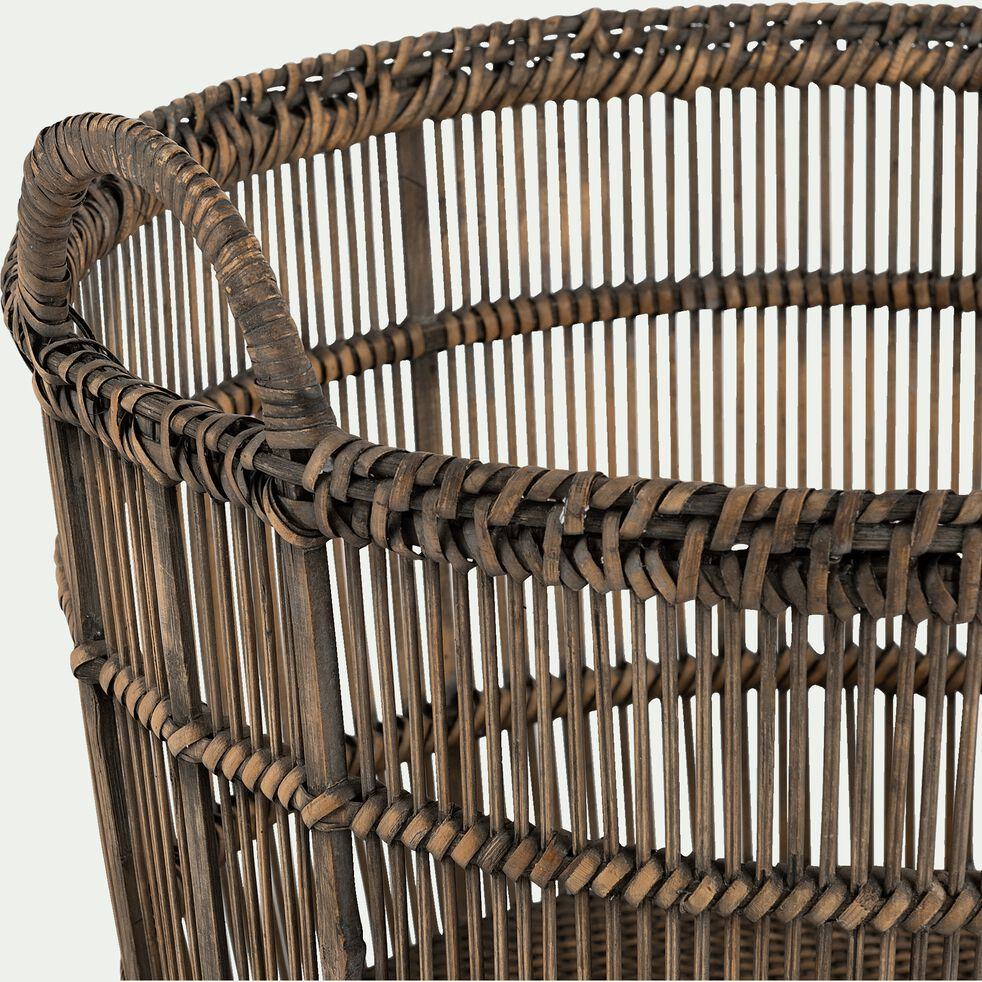 Panier en bambou tressé L26xl26xH31cm-RODRIGO