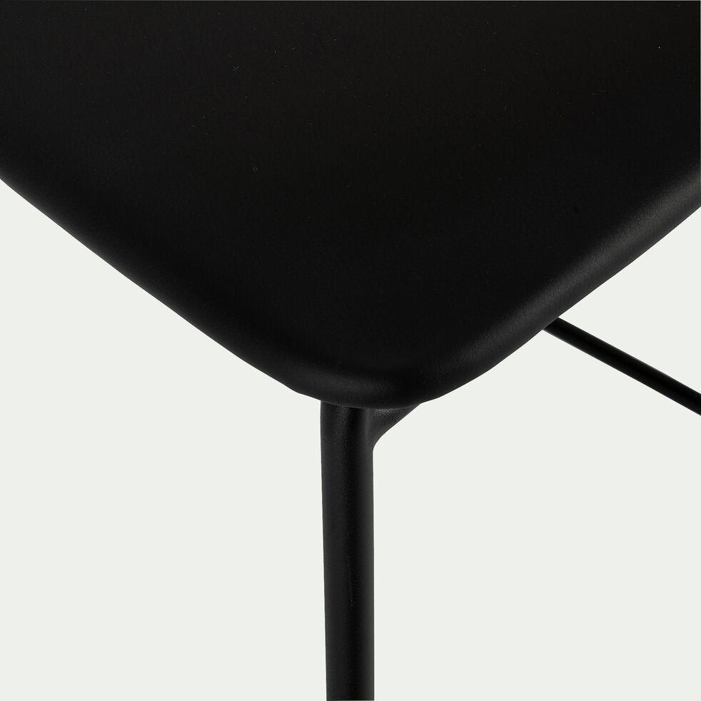 Chaise de bar en simili noir- H66cm-PELISSANNE