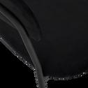 Chaise en velours noir avec accoudoirs-TURIN