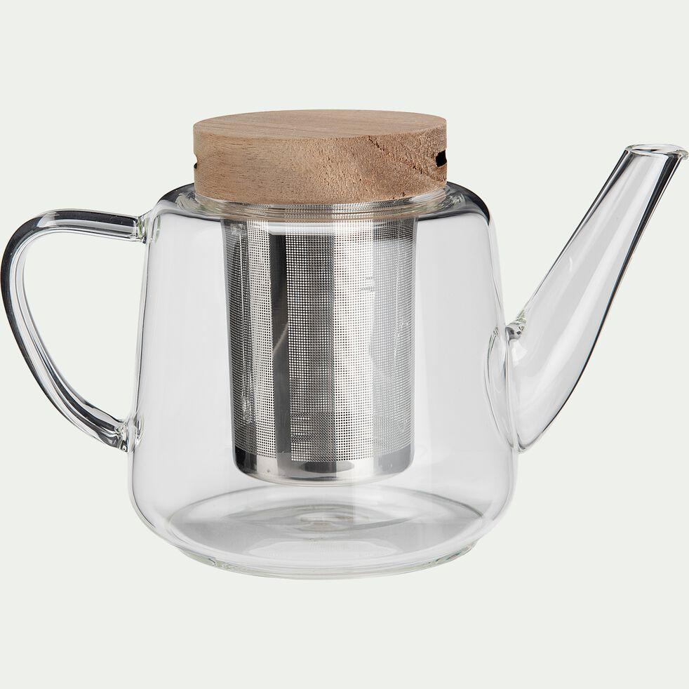 Theière en verre borosilicate - L19xH12xl11cm-SICHU