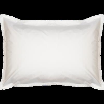 Lot de 2 taies d'oreiller en percale de coton Blanc Ventoux 50x70cm-FLORE