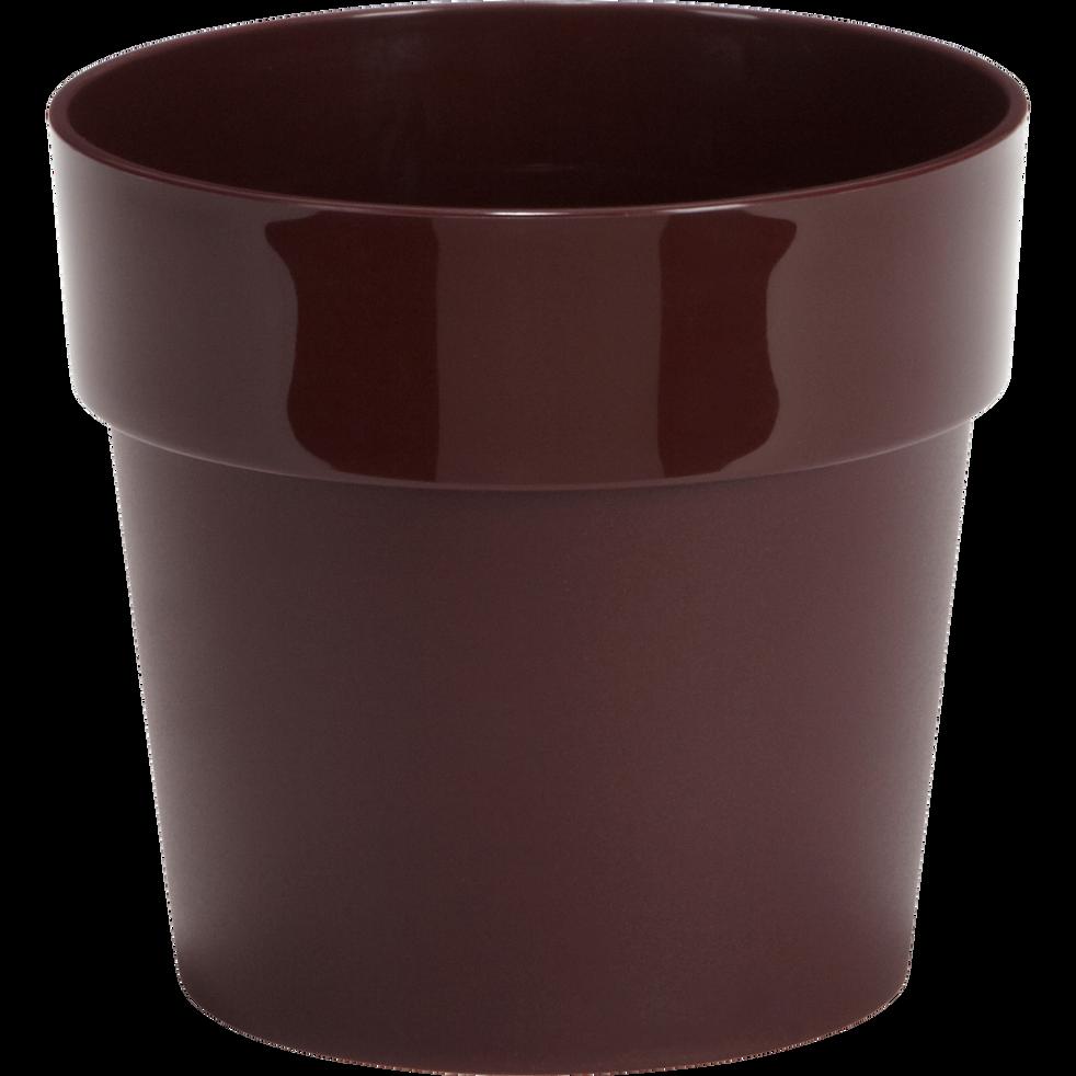Pot rouge sumac en plastique H13xD14cm-B FOR