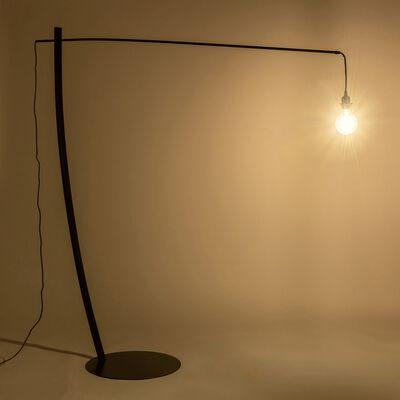 Lampadaire en acier - L176xD49,5xH186 cm noir-LUGANO
