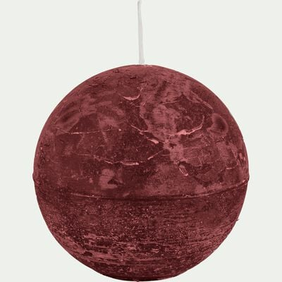 Bougie ronde - rouge sumac D10cm-BEJAIA