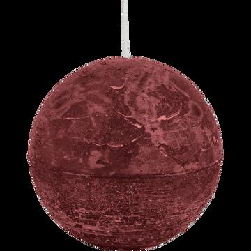 Bougie ronde rouge sumac D10cm-BEJAIA