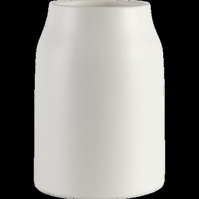 Vase en céramique blanc ventoux D16xH24cm-LOZA