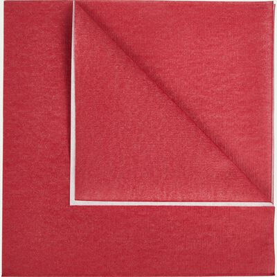 Lot de 20 serviettes en papier rouge arbouse 40x40cm-SALERNE