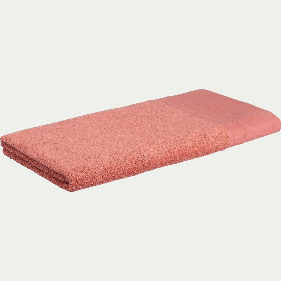 Drap de douche bouclette en coton - rose 70x140cm-MINH