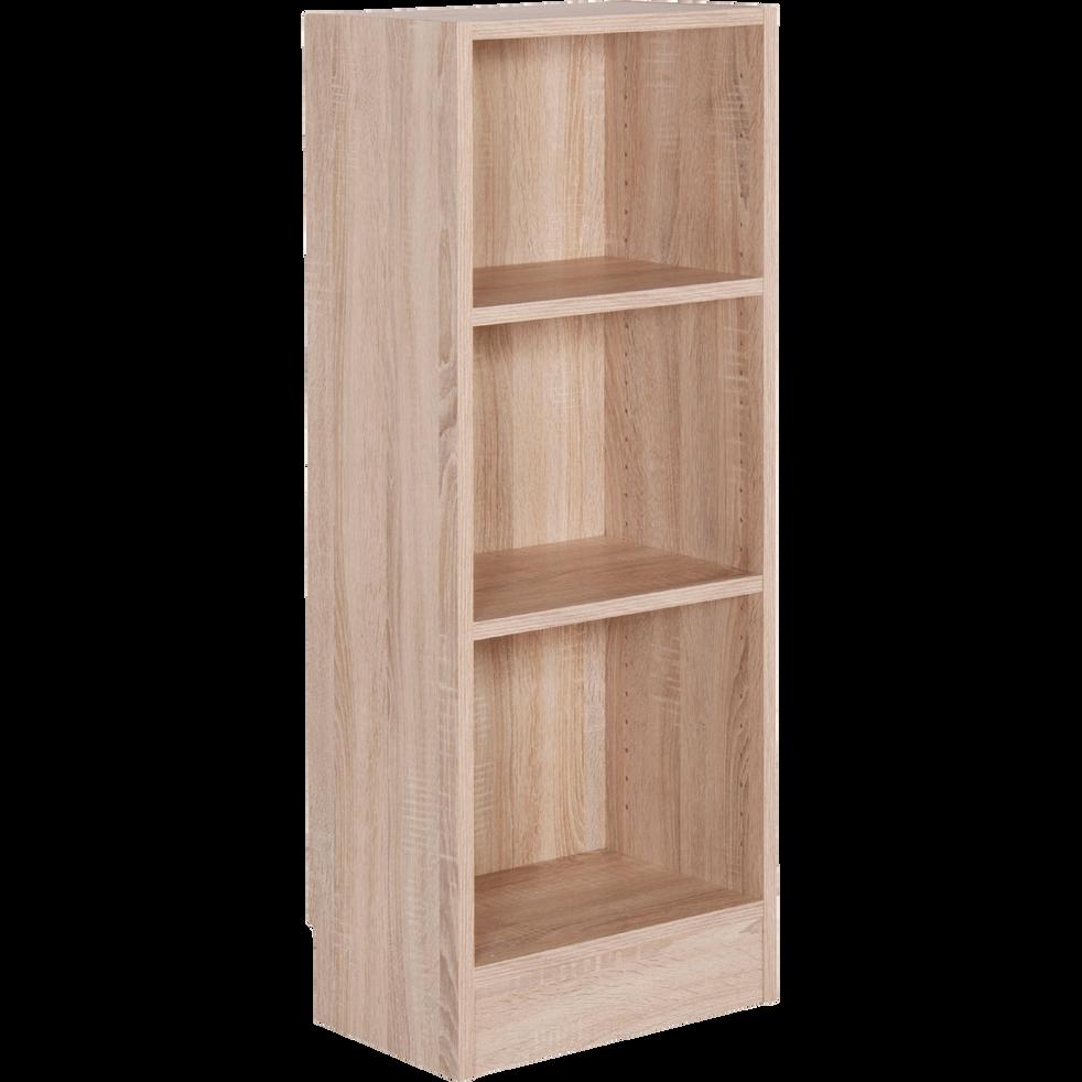 petite biblioth que 3 tablettes coloris ch ne clair l40cm. Black Bedroom Furniture Sets. Home Design Ideas