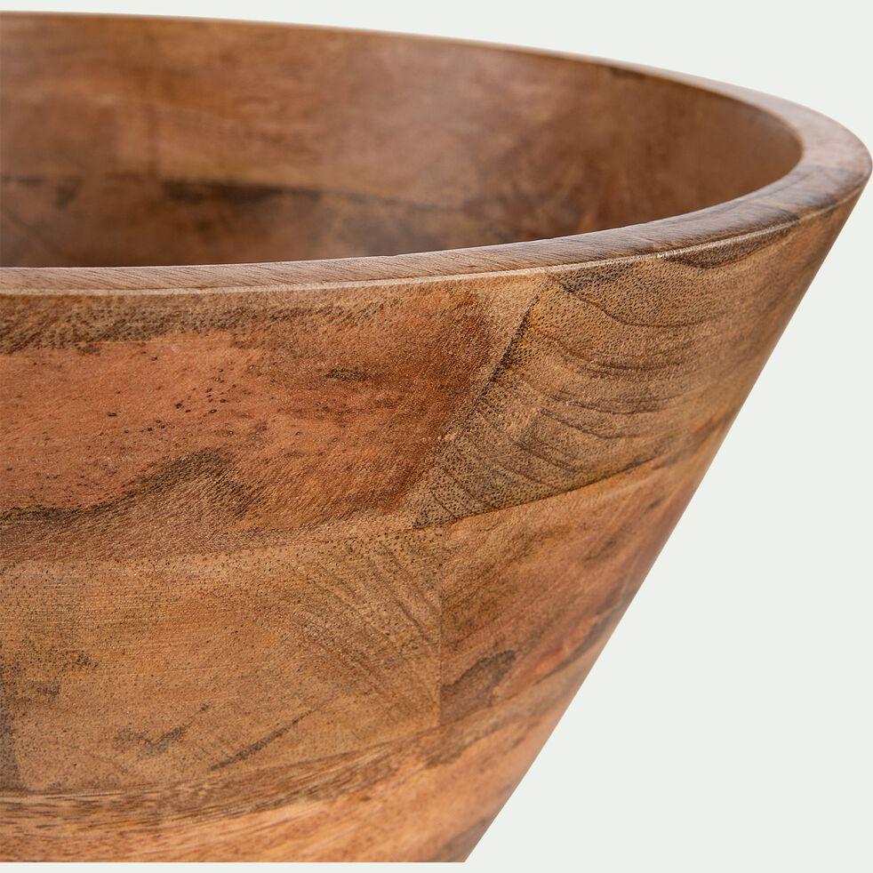 Saladier en bois de manguier - marron D30cm-PEGO