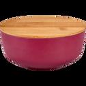 Saladier en fibre de bambou rouge D15,2cm-TREZ