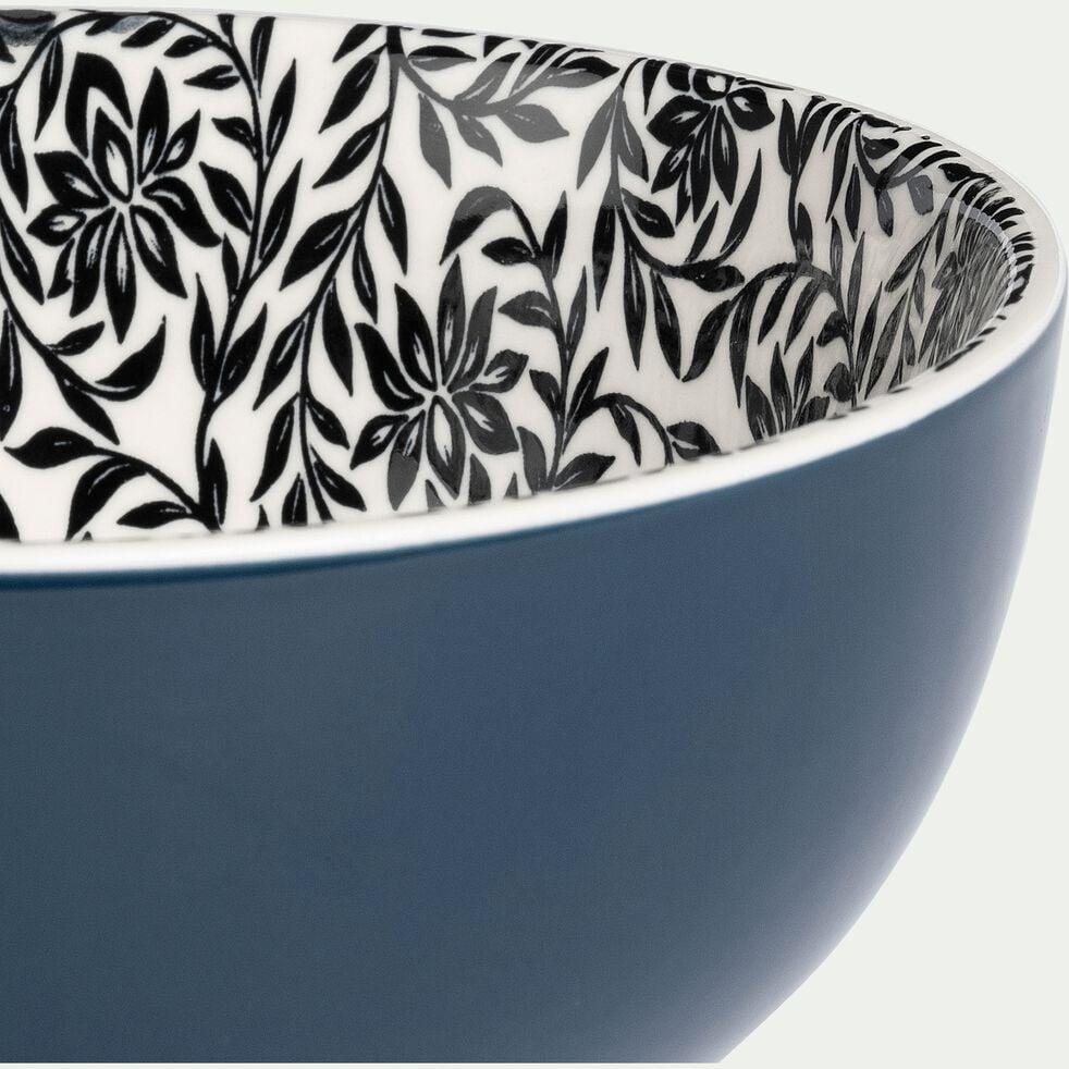 Bol en porcelaine - bleu motif jasmin D15cm-AIX