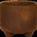 Cache-pot en céramique effet rouille D11xH9,5cm-OUARZAZATE