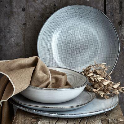 Gamme de vaisselle en grès blanc-ALONG