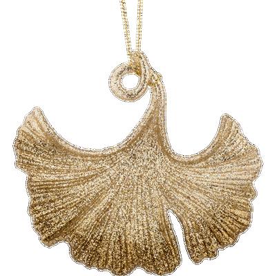 Décoration à suspendre dorée H14,2cm-KHOA