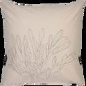 Lot de 2 taies d'oreiller en coton imprimé Agapanthe - carré 63x63 cm-ASTI