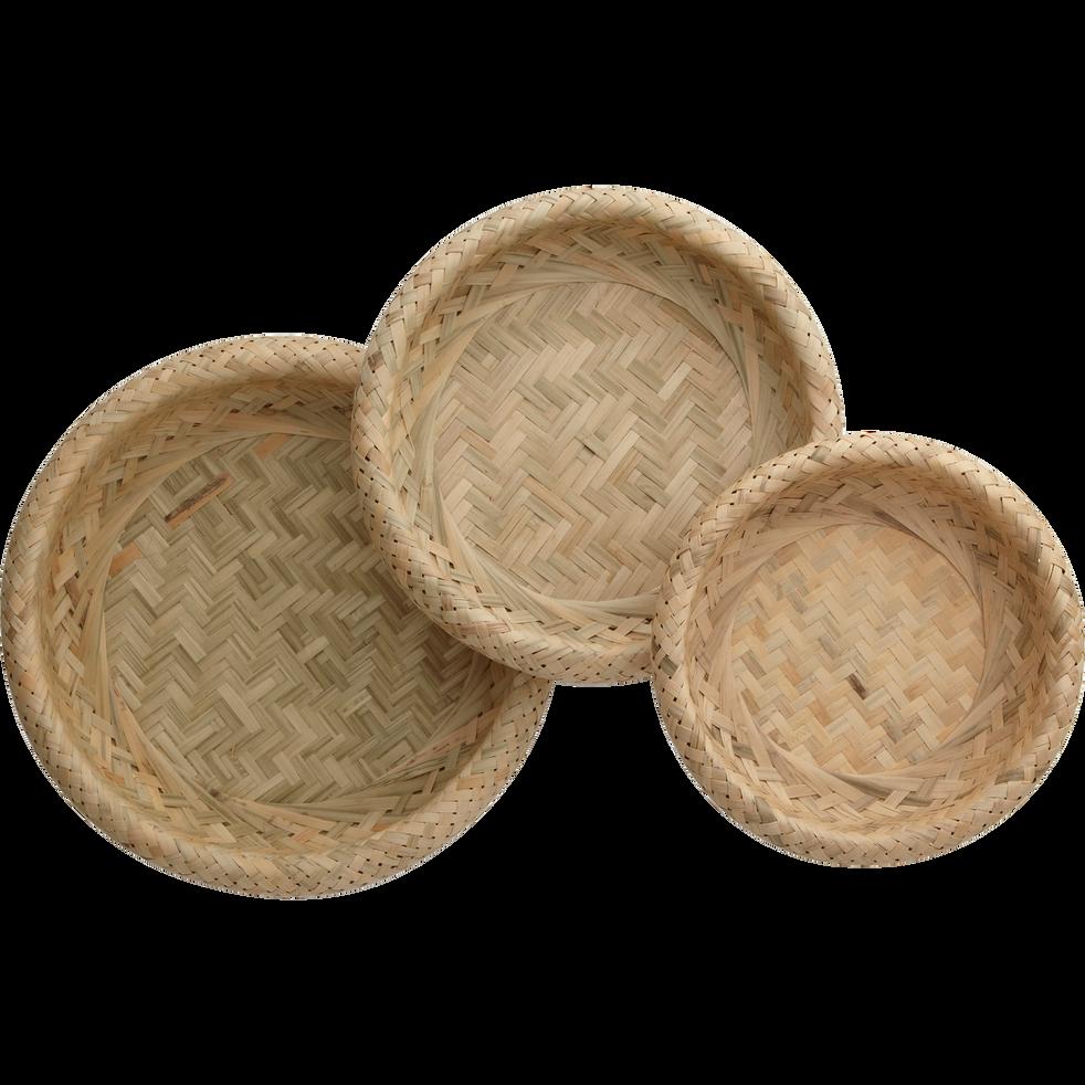 Lot de 3 corbeilles en bambou-NATA