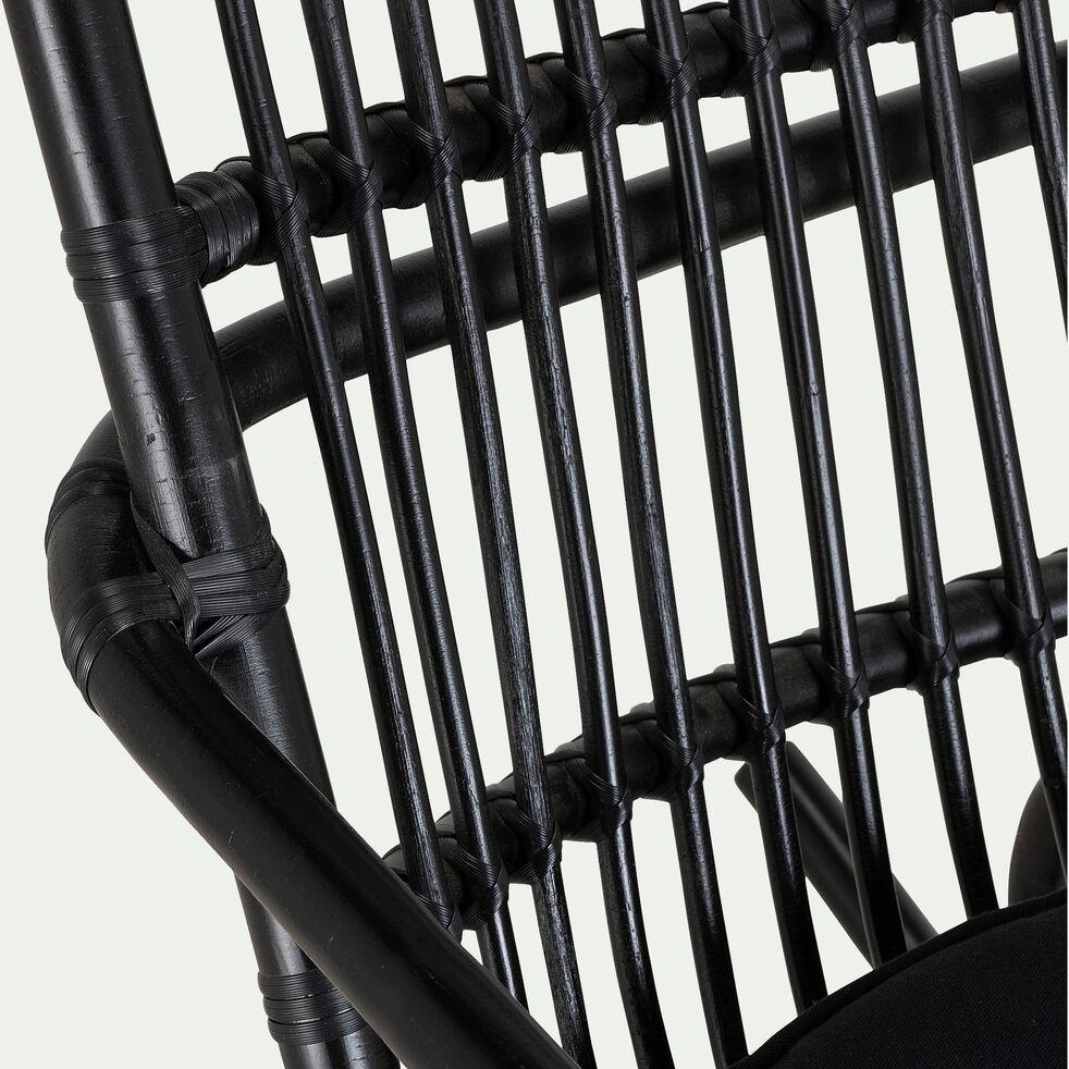 Fauteuil en rotin - noir-NUA
