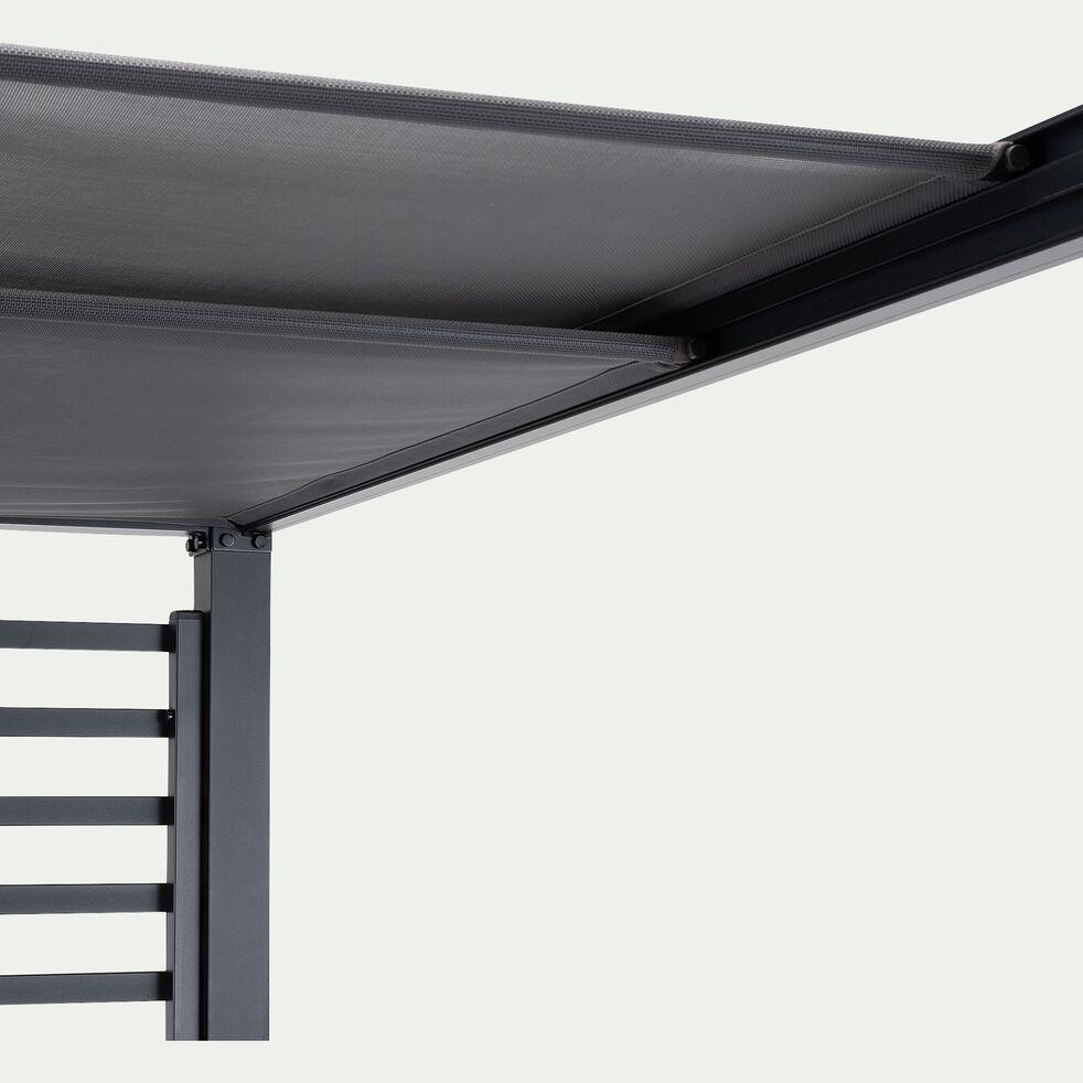 Lit de piscine avec coussins - noir-CAMA