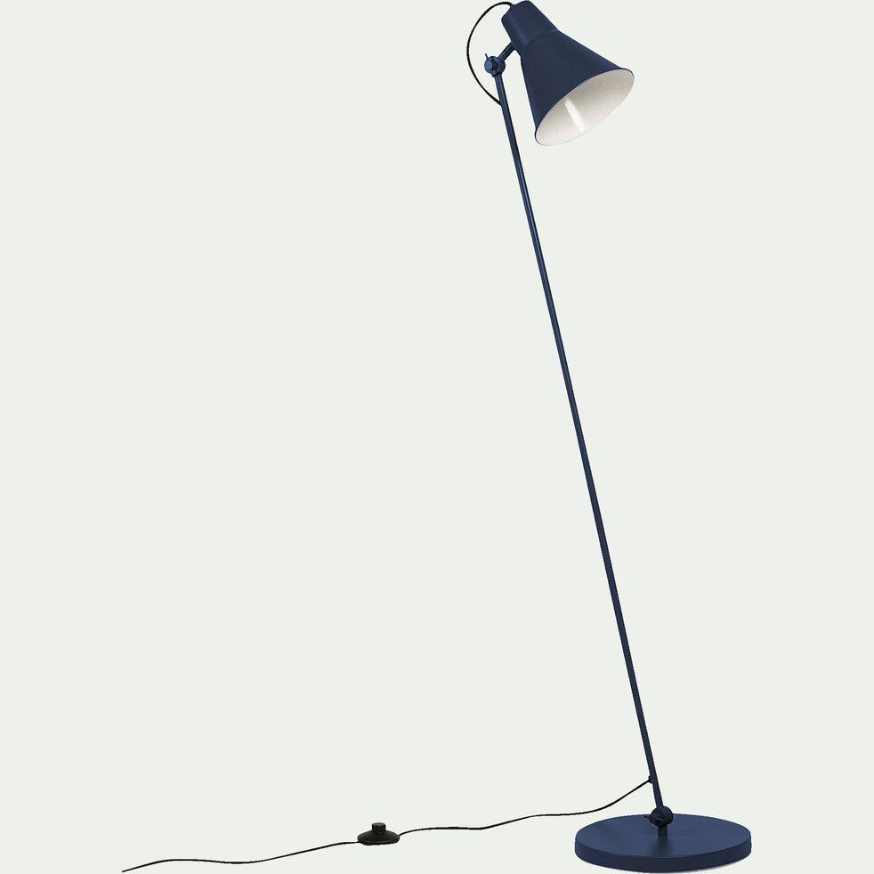 Lampadaire en métal bleu myrte H140cm-BEYA