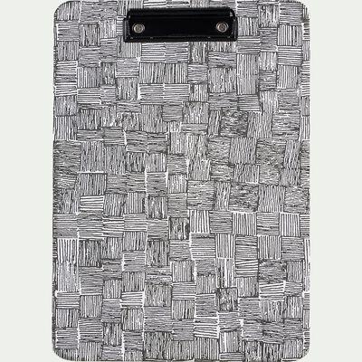 Porte-bloc motif canisse 32x22,5cm-SIMY