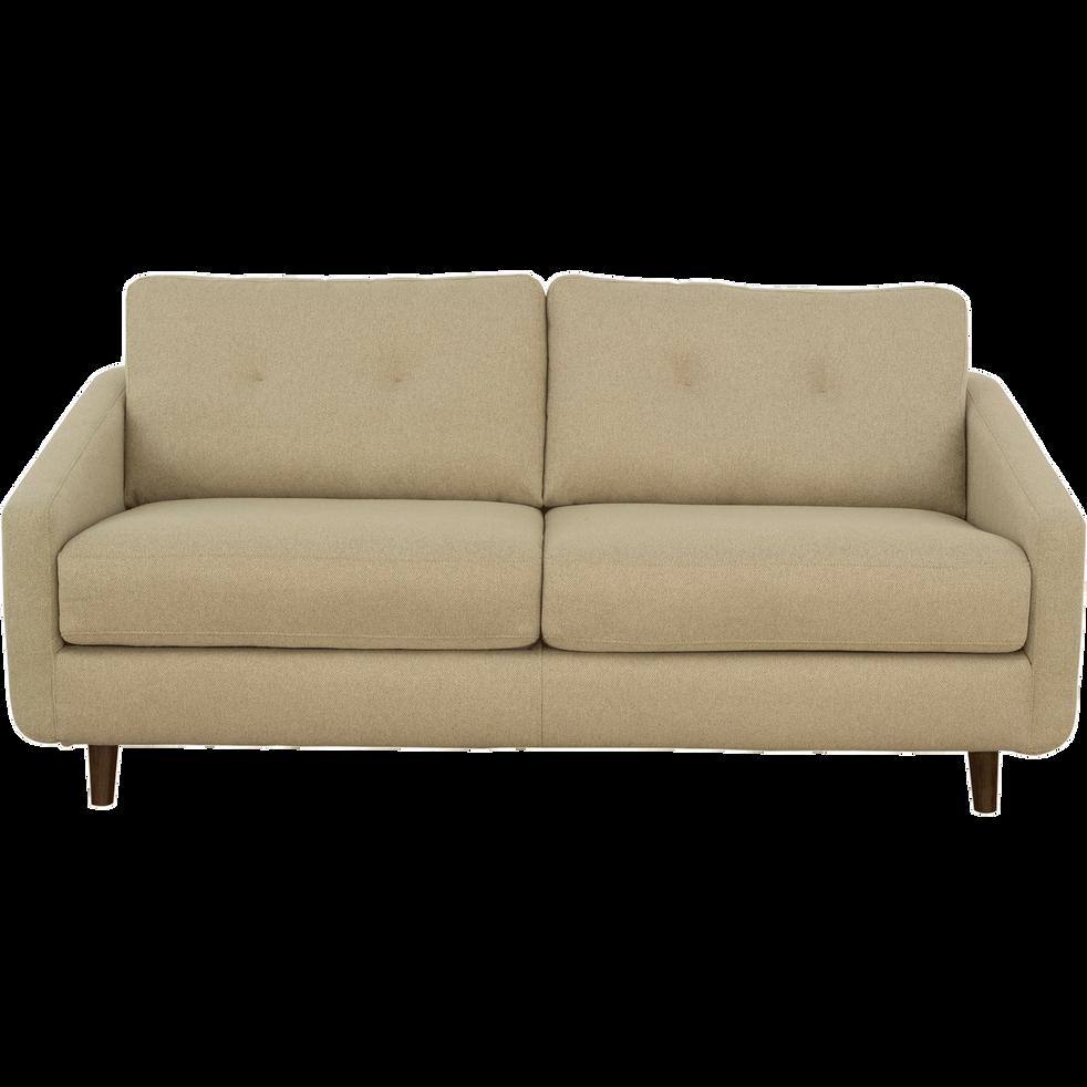 Canapé 3 places convertible en tissu beige roucas-VALENT