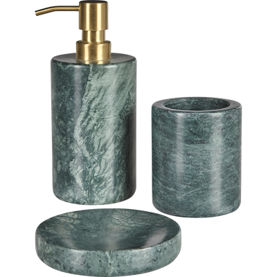 Distributeur de savon en marbre vert-EULALIE
