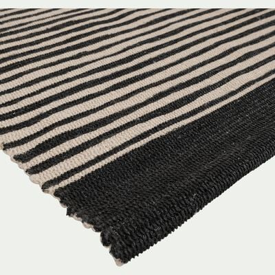 Tapis en coton - noir et blanc 60x120cm-ORGON