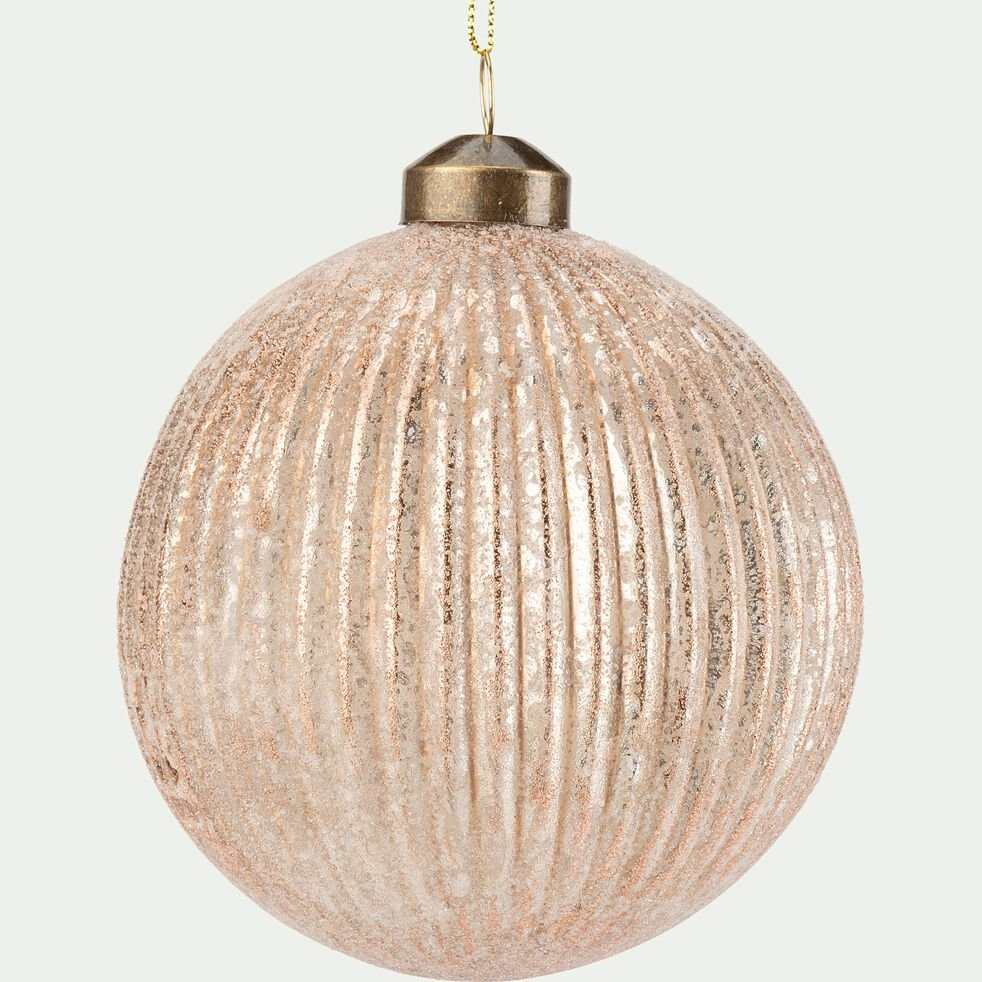Boule de Noël à suspendre - D10cm marron-GAIUS