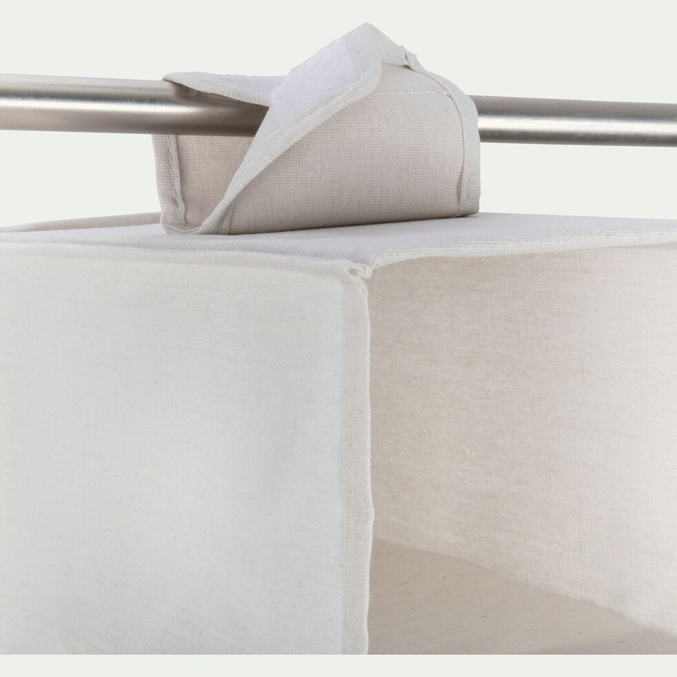 Étagère en polycoton 6 emplacements - blanc H94xL30cm-ERRO