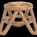 Table de service en rotin H40 cm-Noukous