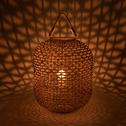 Lanterne en jacinthe d'eau H55 cm-BOUKRANA