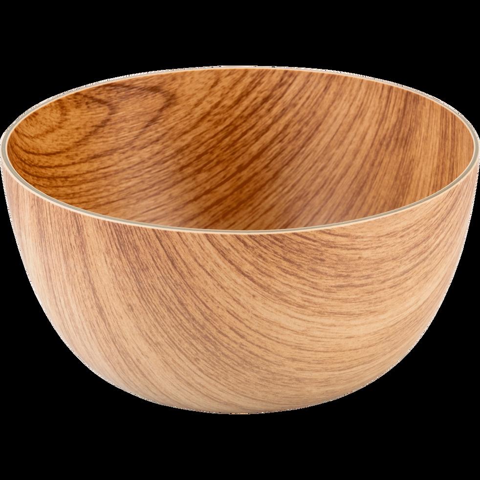 ERI - Saladier en plastique aspect bois D20cm