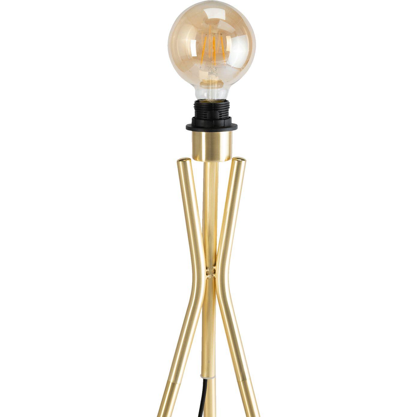 Pied de lampadaire en acier - doré H132,5cm-TAMARIU