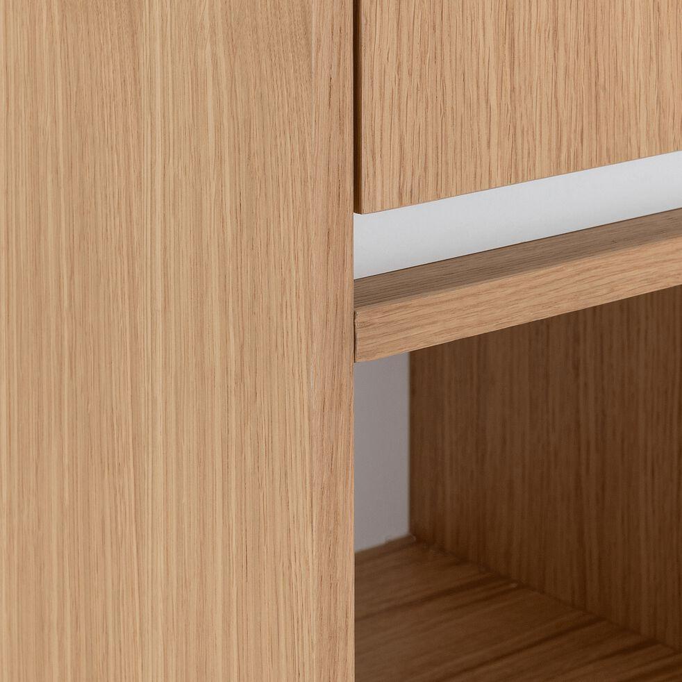 Colonne en bois 2 portes - L35xl35xH136cm chêne-GARLABAN