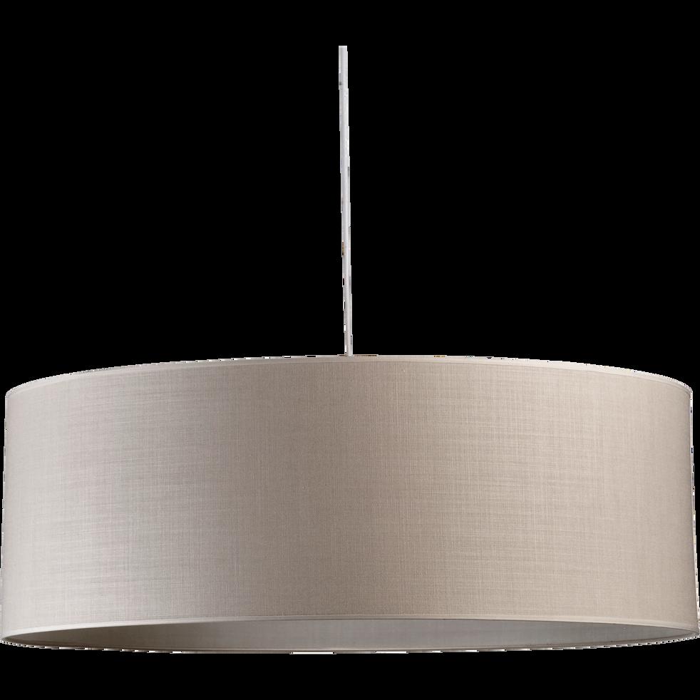 Suspension cylindrique en tissu beige roucas D75cm-MISTRAL