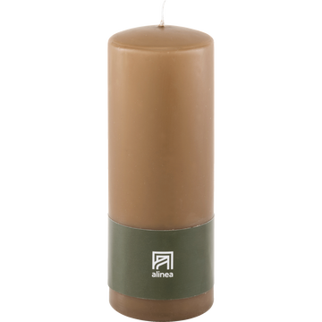 Bougie cylindrique brun albe-HALBA