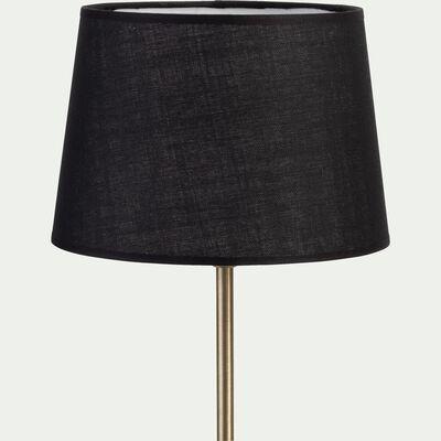 Abat-jour tambour en coton - D33cm noir-MISTRAL