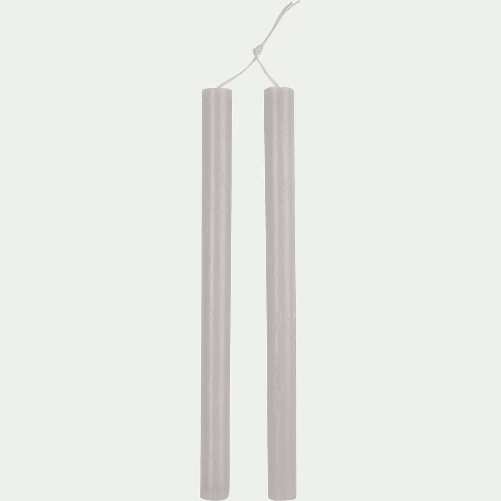 Bougie duo de flambeau gris borie H30cm-BEJAIA