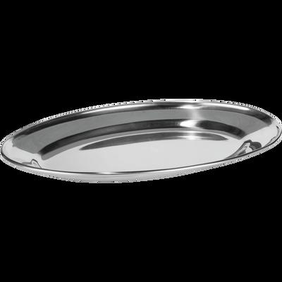 Plat ovale en acier inoxydable 35cm-GALO