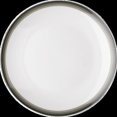 Assiette à dessert en porcelaine motif dégradé vert cèdre D19cm-VIC