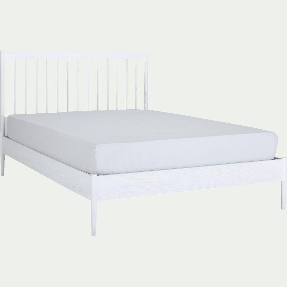 Lit 2 places en bois - 160x200cm blanc-PRADO