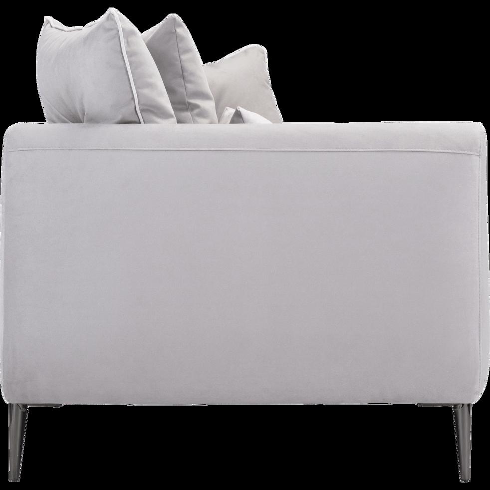 Canapé 4 places fixe en tissu gris borie-ASTELLO