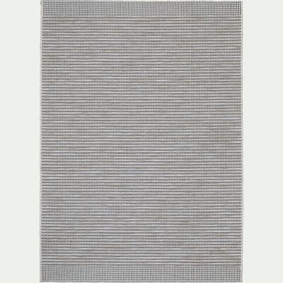 Tapis intérieur et extérieur - noir et beige 160x230cm-MESO