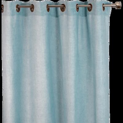Rideau à oeillets en lin lavé bleu clair 140x250cm-VENCE