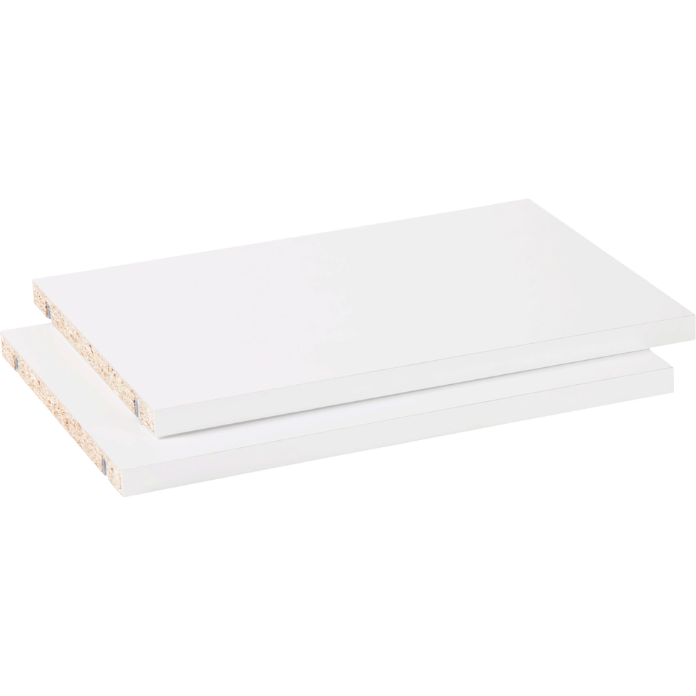Lot de 2 tablettes coloris blanc L37cm-BIALA