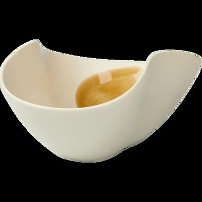 Coupelle en porcelaine blanche 14x19cm-PLEIADE