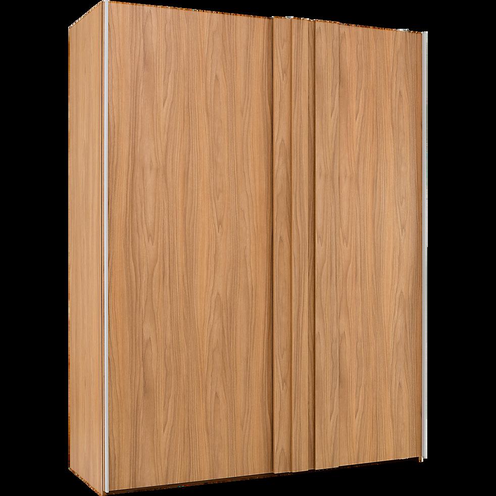 armoire 2 portes coulissantes effet bois vieilli luz armoires alinea. Black Bedroom Furniture Sets. Home Design Ideas
