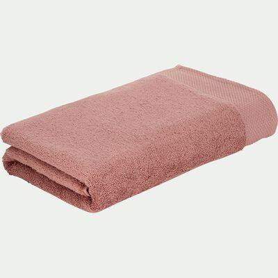 Serviette de toilette en coton peigné - brun rhassoul 50x100cm-AZUR